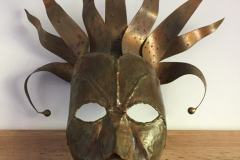 Umelecká kovová maska